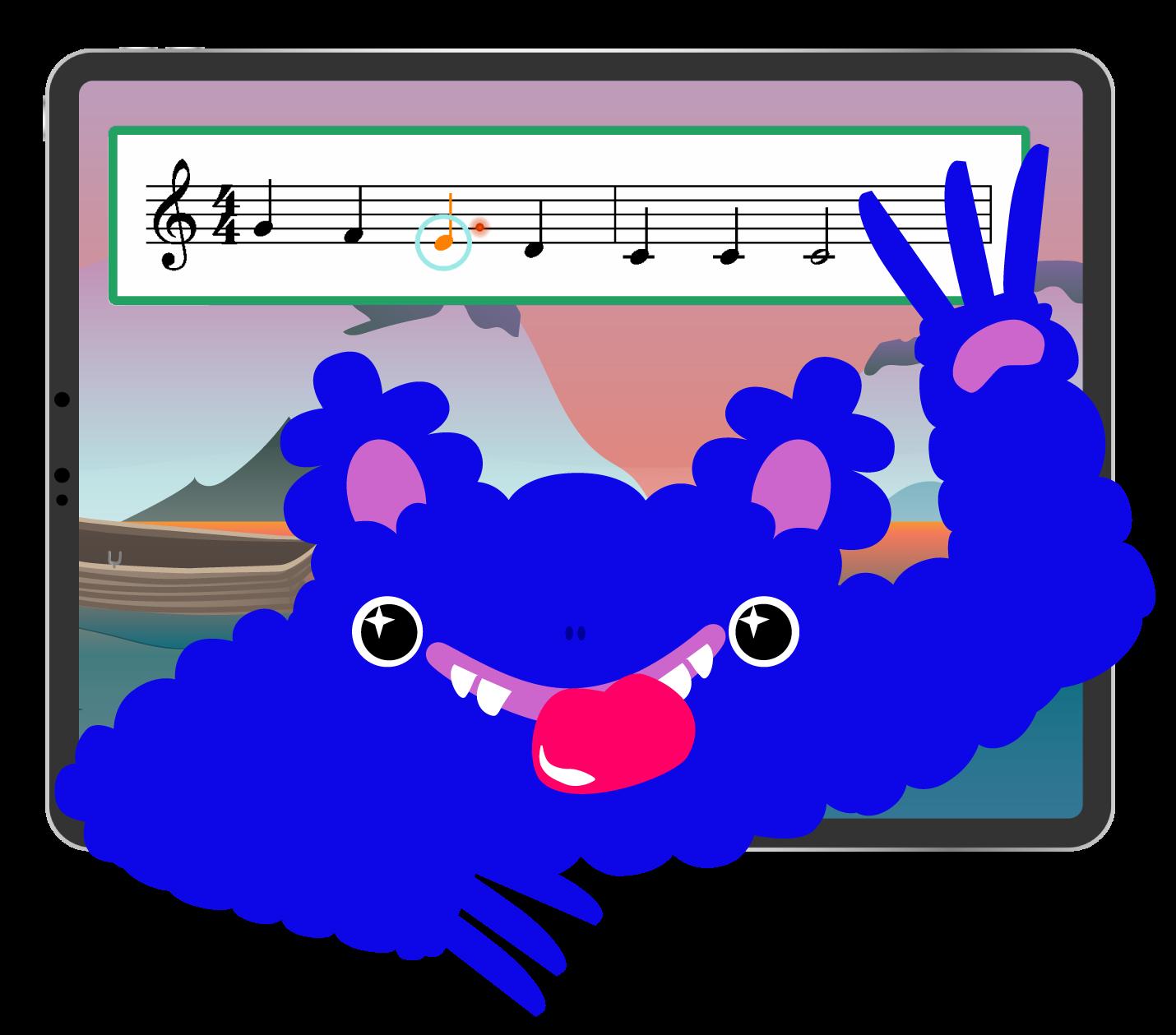 Mussila Monster inside iPad