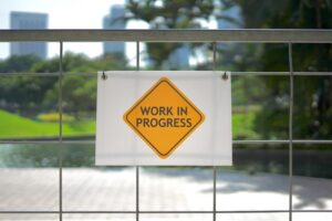 A work in progress sign symbolising tracking student progress