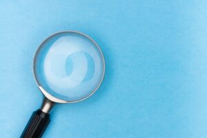 A magnifying glass symbolising a breadth of information