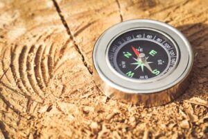 Developing practical knowledge derived from digital learning symbolised with a compass
