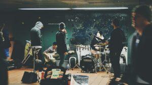 A band rehearsal