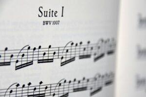 Having the sheet music at hand